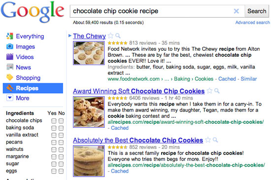 Googles recipe search and rich snippets food blog alliance forumfinder Gallery
